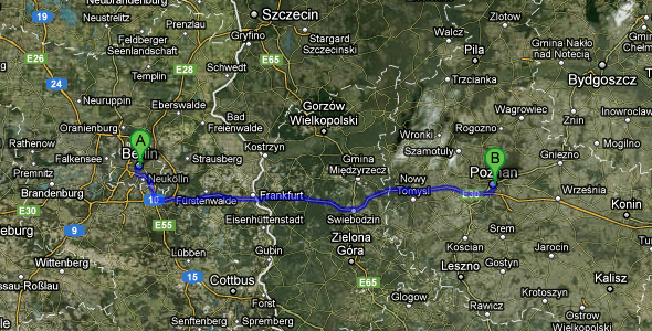 Berlin to Poznan