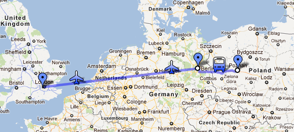 Poznan to Berlin to London