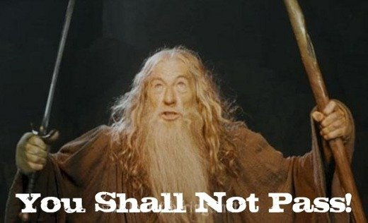 You shall not pass - Gandolf