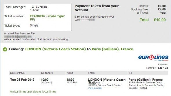London to Paris - National Express