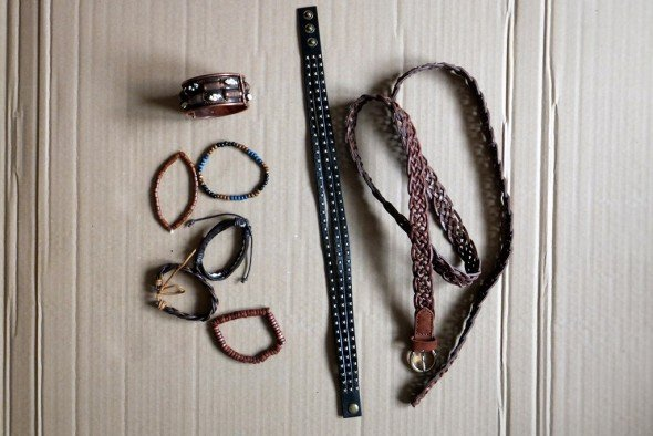 Steampunk leather bands