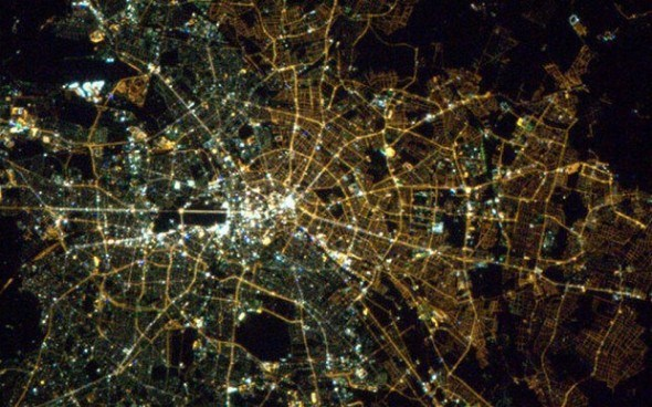 Berlin lights from space