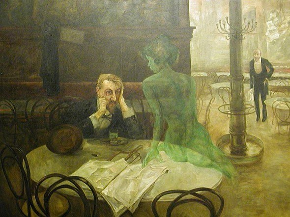 Viktor-Oliva-The-absinthe-drinker-1901