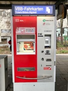 Berlin S-Bahn ticket machine